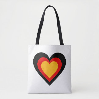 German/Germany Heart flag-inspired Tote Bag