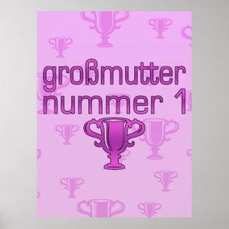 German Gifts for Grandmothers: Großmutter Nummer 1 Print