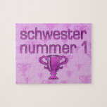 German Gifts for Sisters: Schwester Nummer 1 Puzzles