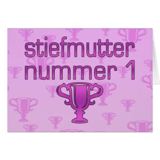 German Gifts for Stepmothers: Stiefmutter Nummer 1 Card