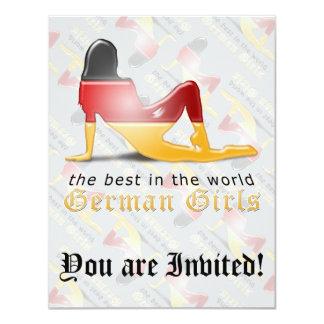 German Girl Silhouette Flag 11 Cm X 14 Cm Invitation Card
