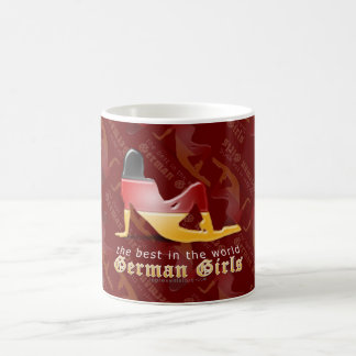 German Girl Silhouette Flag Basic White Mug