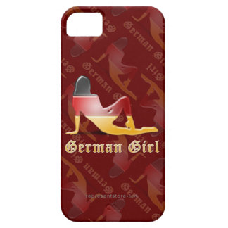 German Girl Silhouette Flag iPhone 5 Case