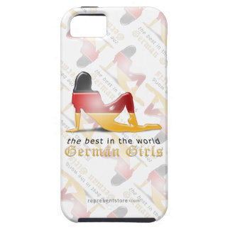 German Girl Silhouette Flag iPhone 5 Cases