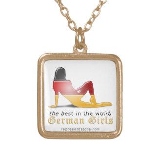 German Girl Silhouette Flag Jewelry