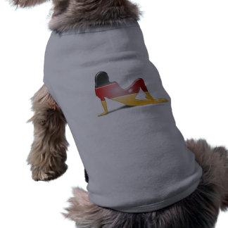 German Girl Silhouette Flag Sleeveless Dog Shirt