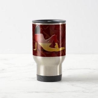 German Girl Silhouette Flag Stainless Steel Travel Mug