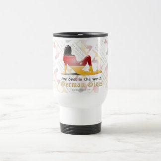 German Girl Silhouette Flag Stainless Steel Travel Mug