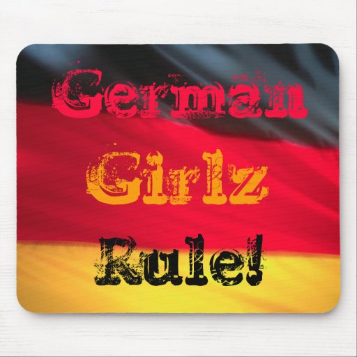 German Girls Girlz Rule! Mouse Pad