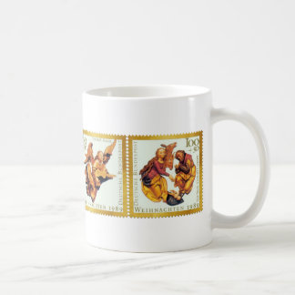 German Gold Christmas Stamp Collection - Mug
