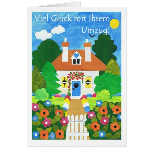 German Good Luck with Your Move Greeting Card