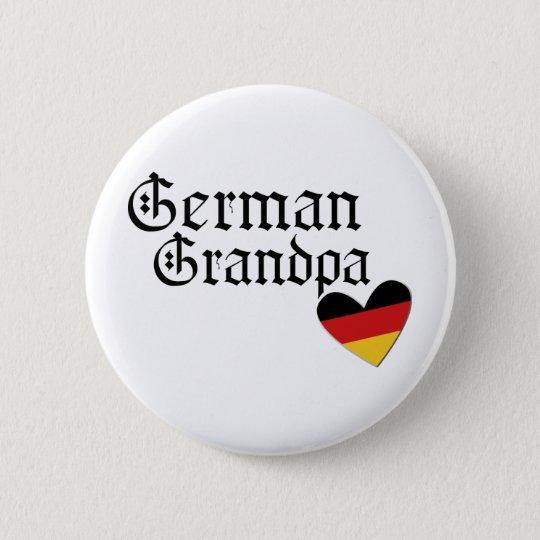 German Grandpa T shirt 6 Cm Round Badge