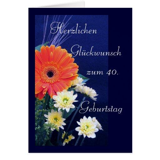 German: Happy 40th / 50th/ 60th birthday... Cards