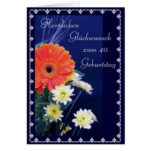 German: Happy 40th / 50th... birthday Cards