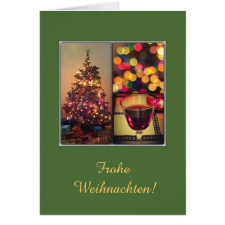 German: Happy Holidays lights Card