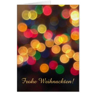 German: Happy Holidays lights Greeting Card