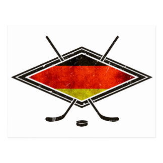 German Ice Hockey Flag Postcard