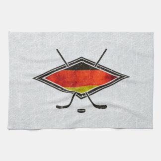 German Ice Hockey Flag Tea Towels