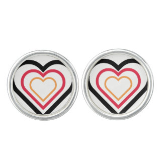 German-inspired flag Heart Cufflinks