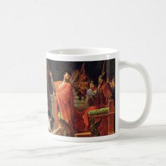 German King Perseus Before Aemilius Paulus By Peyr Basic White Mug
