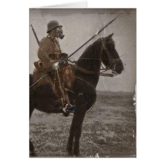 German Lancer on Horseback Greeting Card