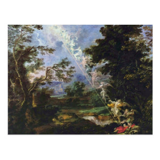 """German """"Landscape With The Dream Of Jacob"""", """" Postcard"""