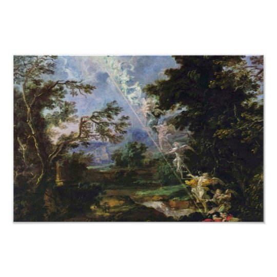 """German """"Landscape With The Dream Of Jacob"""", """""""