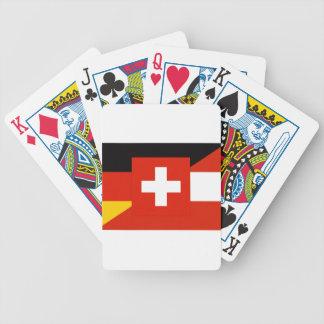 German Language Flag Poker Cards