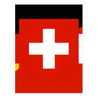German Language Flag Postcard