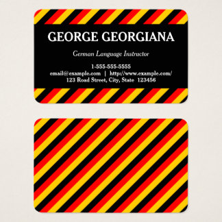 German Language Instructor Business Card