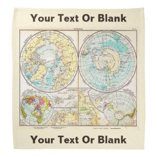 German-Language Polar Map Do-rag