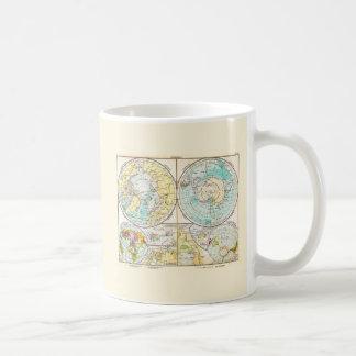 German-Language Polar Map Coffee Mugs