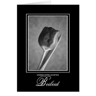 German Language Sympathy Card Tulip