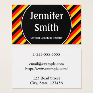 German Language Teacher Business Card