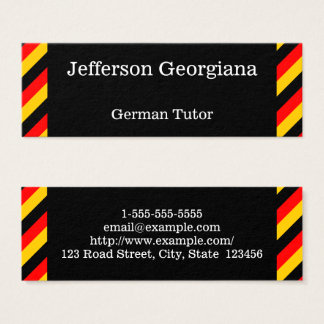 German Language Tutor Business Card