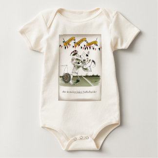 german left wing footballer baby bodysuit