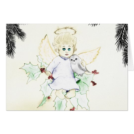 German Little Angel Christmas Card