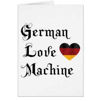 German Love Machine Card