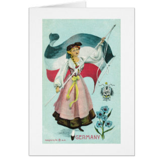 German Maiden - Early 1900's Card