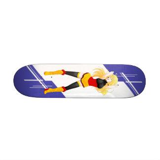 German Manga girl dressed in Flag - Germany Custom Skateboard