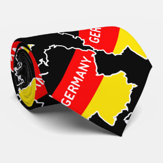 German Map and Flag Tie