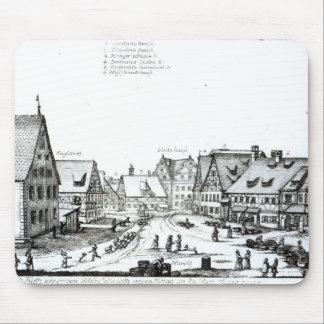 German Market town, 1704 Mouse Mat