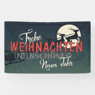 German Merry Christmas | Frohe Weihnachten Banner