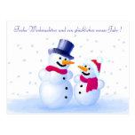German Merry Christmas Postcard