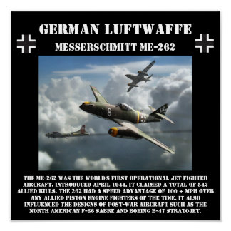 German Messerschmitt ME-262 Jet - World War II Poster