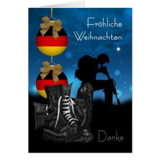 German Military Christmas Greeting Card With Pride