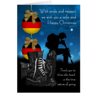 German Military Christmas Greeting Card With Pride