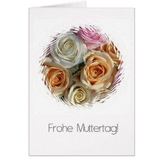 german mother s day pastel roses cards