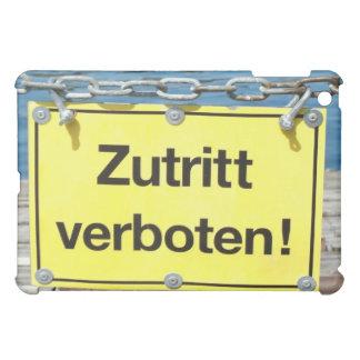 """German """"No Entry"""" Sign - iPad Case"""