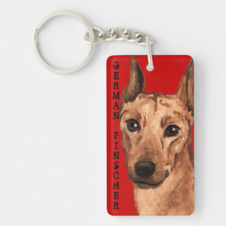 German Pinscher Color Block Double-Sided Rectangular Acrylic Key Ring